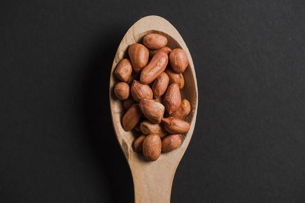 Peanuts in spoon
