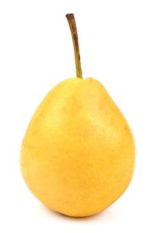 分離された梨のクローズアップの詳細