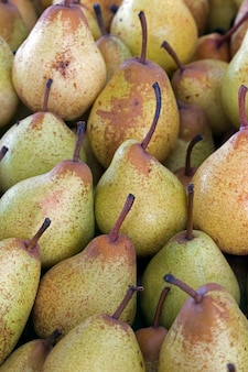 Pear exposed on the market shelf