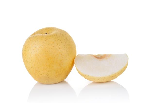 배 과일 흰색 절연