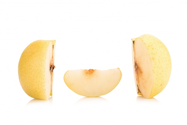 Pear fruit isolated on white background