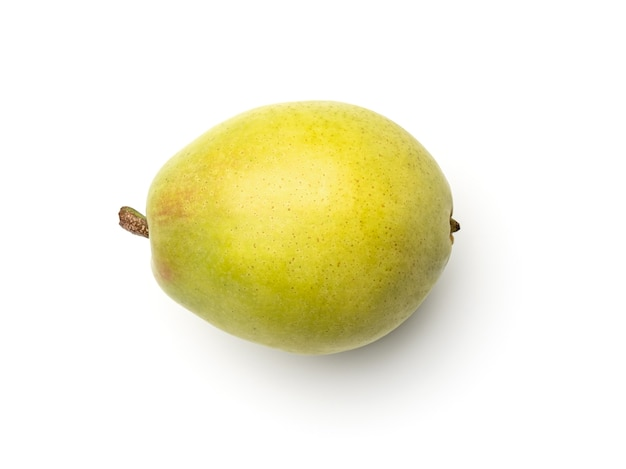 Pear isolated on white background top view