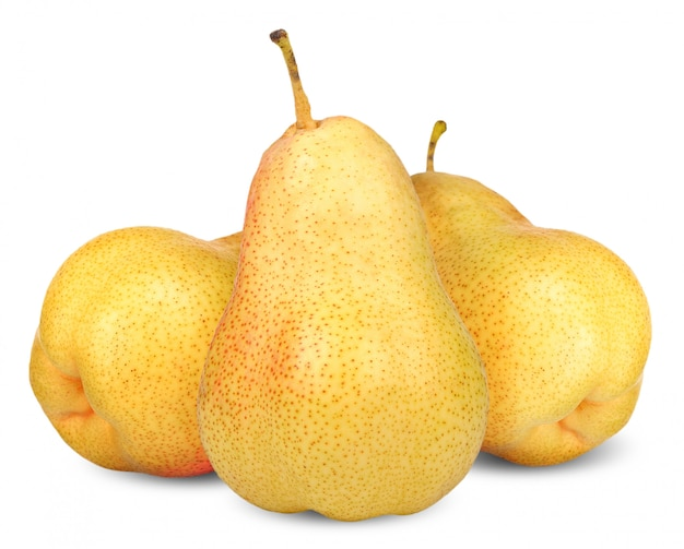 Pear isolated on white clipping path