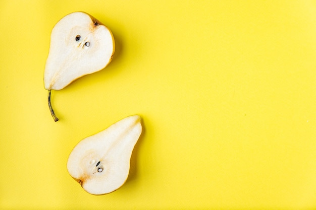 Pear ripe juicy fruit fresh vitamins ready to eat meal snack on the table copy space food background