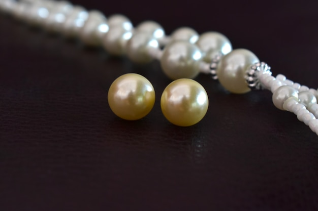 Pearl a luxurious jewelry made of gold pearl