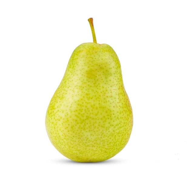白い背景で隔離の梨