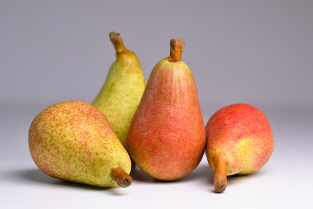 Pears isolated pears on grey background