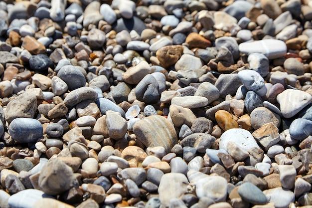 小石のビーチストーンのテクスチャの詳細