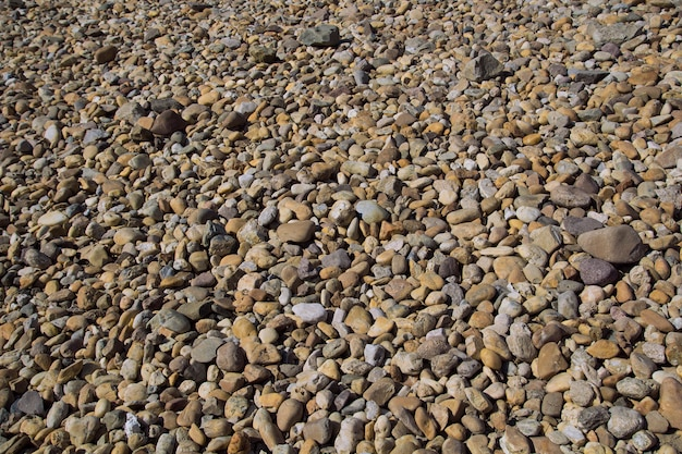 Pebble stone background outside.