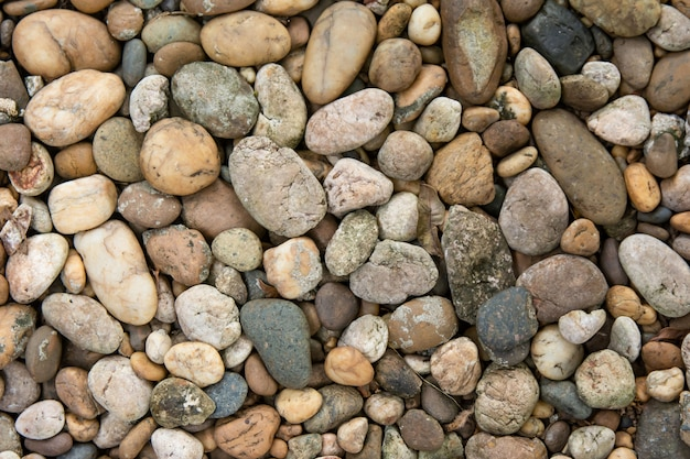 Pebble stones texture and background