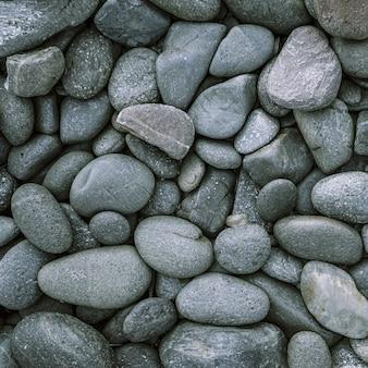 Каменный фон из гальки с винтажным фильтром