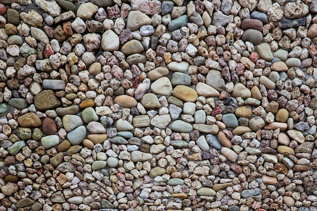 Pebbles stone road