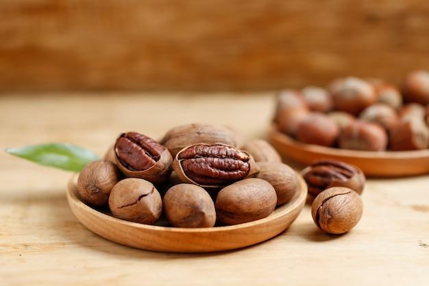 Pecans and hazelnuts