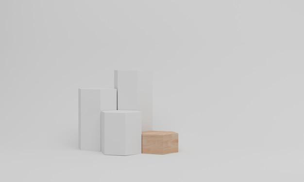 Pedestal mockup on white