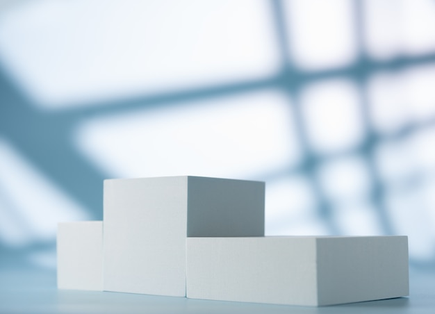 Pedestal for product presentation on an abstract background