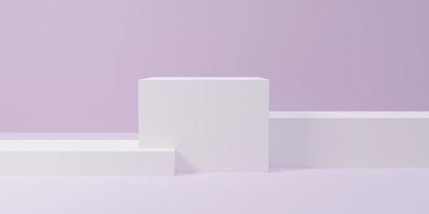 Пьедесталы или подиумы абстрактные геометрические пустые экспонаты музейных сцен для церемонии награждения или презентации продукта