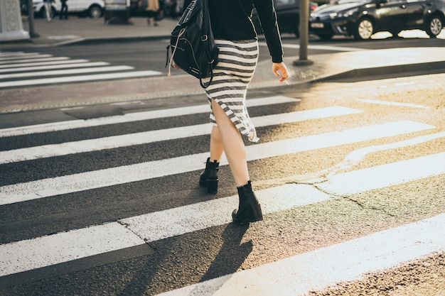 Pedestrian crossing in the city