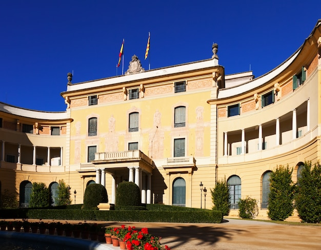 Pedralbes royal palace in barcelona