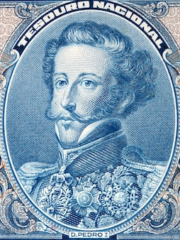 Педро i из бразилии портрет из бразильских денег