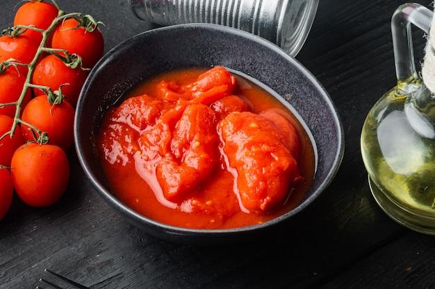 그릇에 벗 겨 토마토