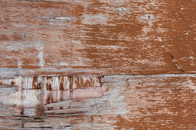 Peeling aged wood surface