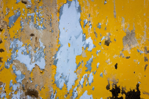 Peeling paint on a metal surface background