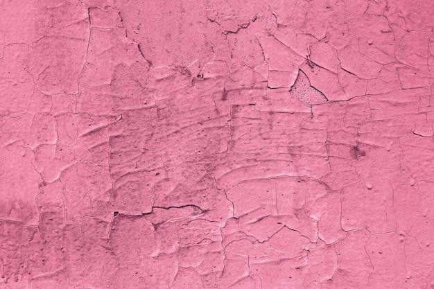 ピンク色、テクスチャ背景の剥離ペイント