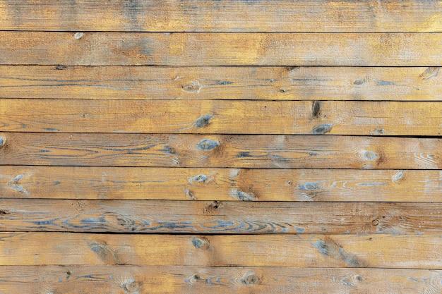 古い木製のテーブル、デザインの背景にペンキをはがす