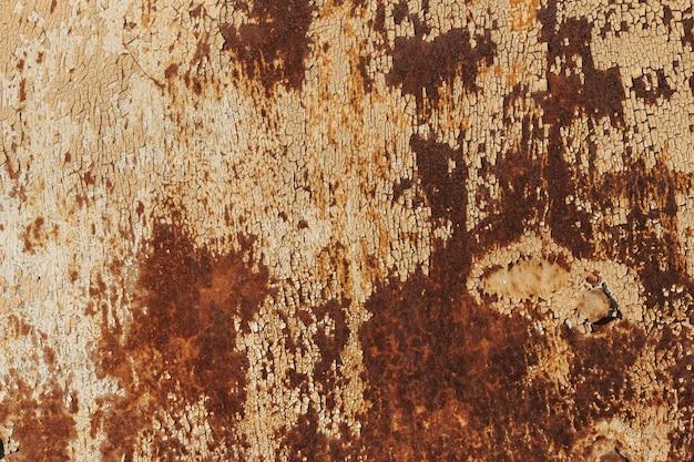 Peeling paint rusting metal rough texture.