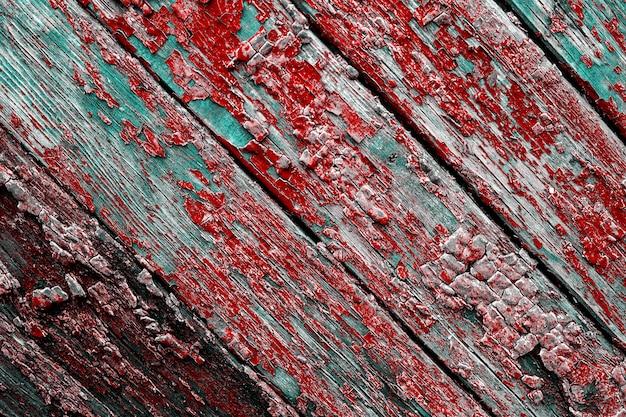 Пилинг текстуры краски на фоне деревянной текстуры