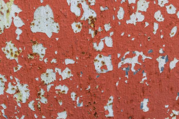 Пилинг красной краской текстуры