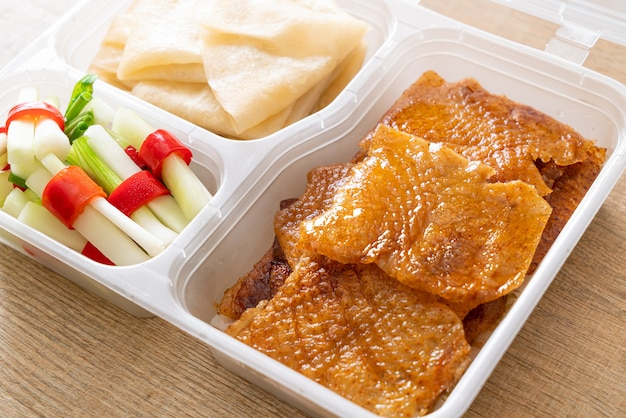 Peking duck in delivery box - chinese food style