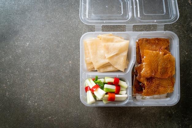 デリバリーボックスの北京ダック-中華料理スタイル