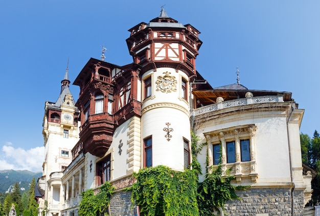 Peles castle summer view (romania). built between 1873 and 1914.