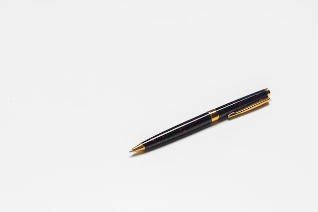 Pen isolated on the white with clipping path