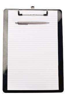 노트 패드 상단의 펜