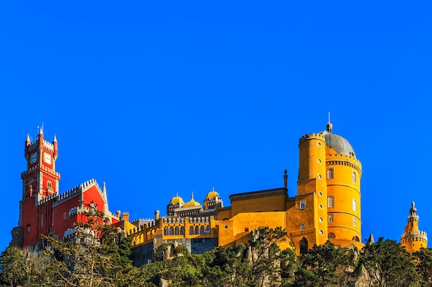 Pena national palace, famous landmark in portugal