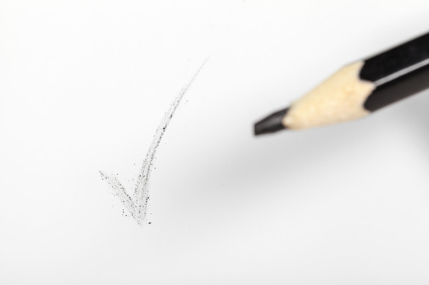 鉛筆をクローズアップ