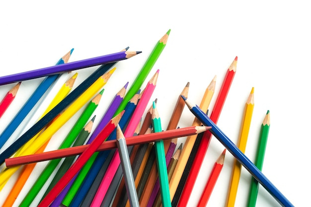Pencil colorful on white background