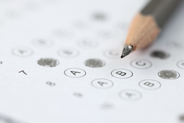 Pencil is placed on passed test result. testing upon admission to an educational institution