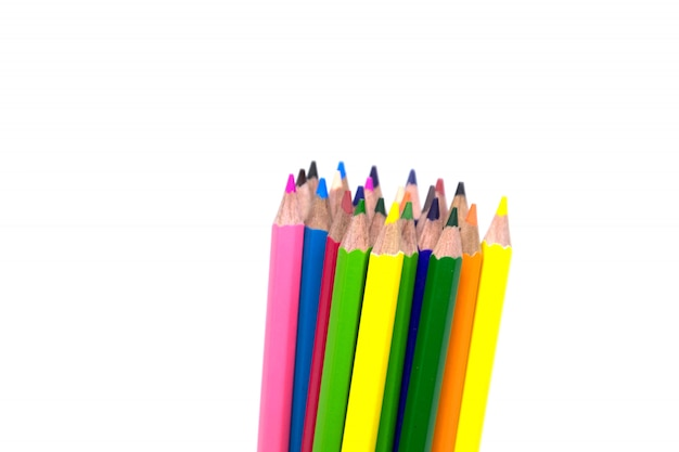 Pencil isolated studio shot on white background