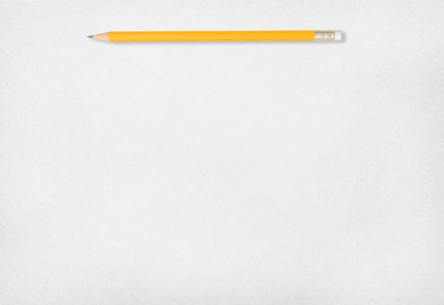 Pencil and white paper background.