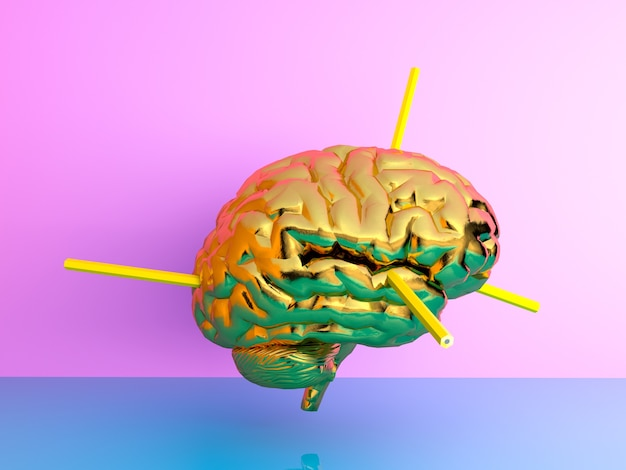 Pencile injection into the brain