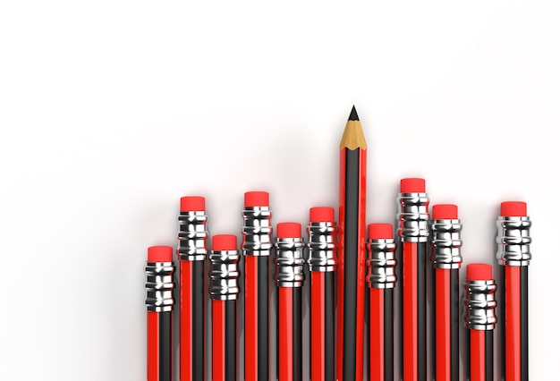 Pencils collection pen tool created clipping path included in jpeg easy to composite.