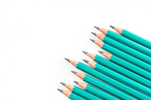 Pencils isolated on white