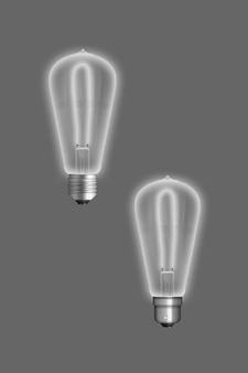 Pendant lamp with light bulb isolated on colored surface