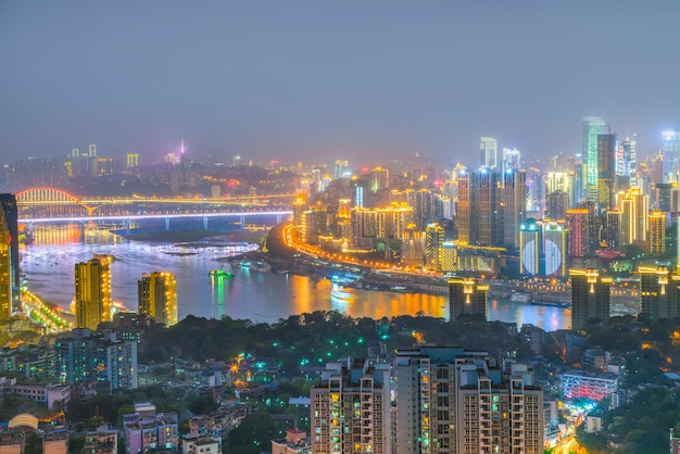 Peninsula scenic sky architecture chongqing bridge