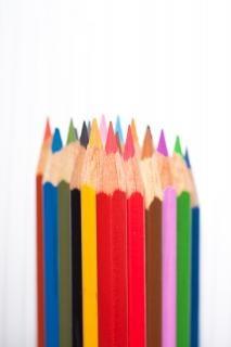Penne di colore