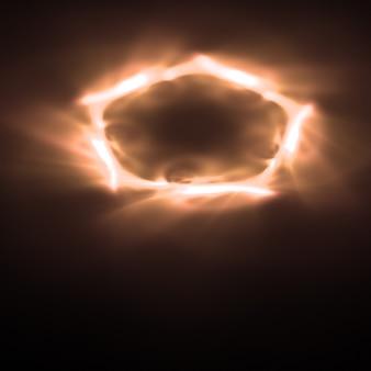 Пятиугольной фон неоновые огни