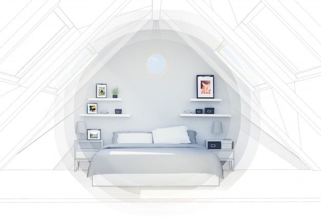 Penthouse bed cad